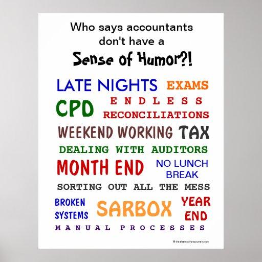 Accountant Sense of Humor Motivational Poster