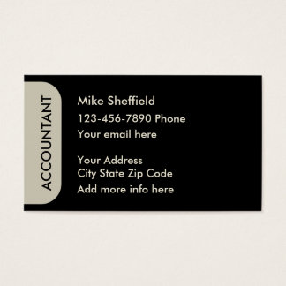 Accountant Simple Design Business Card