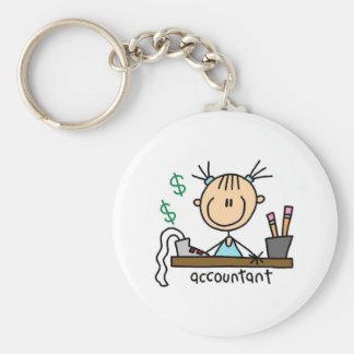 Accountant Stick Figure Key Ring