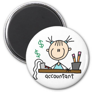 Accountant Stick Figure Magnet