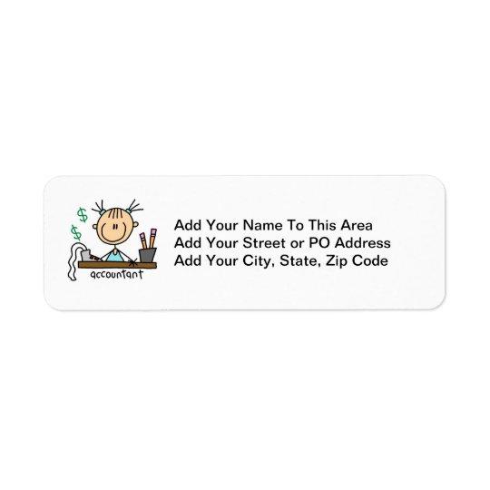 Accountant Stick Figure Return Address Label