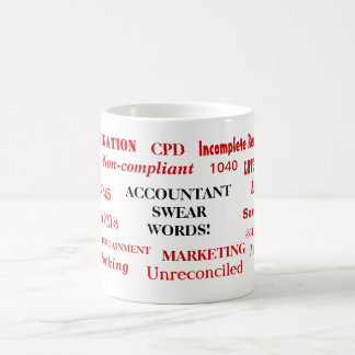 Accountant Swear Words! Rude Accounting Terms Coffee Mug
