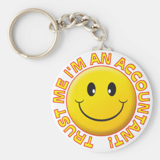 Accountant Trust Me Basic Round Button Key Ring
