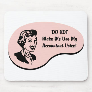 Accountant Voice Mouse Pads