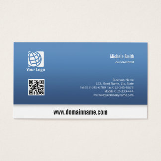 Accountant White Border Simple Business Card #10