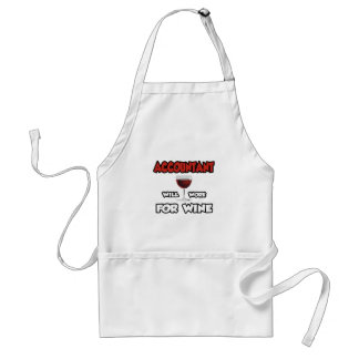 Accountant ... Will Work For Wine Standard Apron