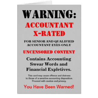 Accountant X-Rated Funny Joke - Add Name & Caption Greeting Card
