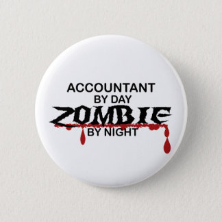 Accountant Zombie 6 Cm Round Badge