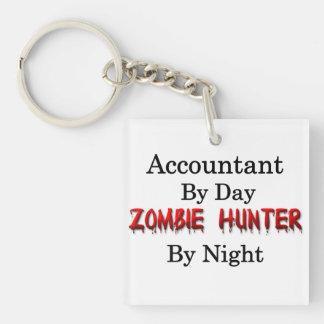 Accountant Zombie Hunter Square Acrylic Key Chains