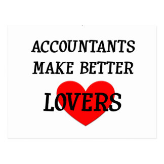 Accountants Make Better Lovers Postcard