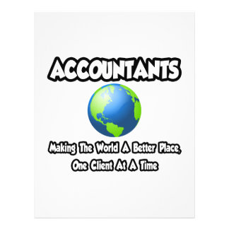 Accountants...Making the World a Better Place Personalized Flyer