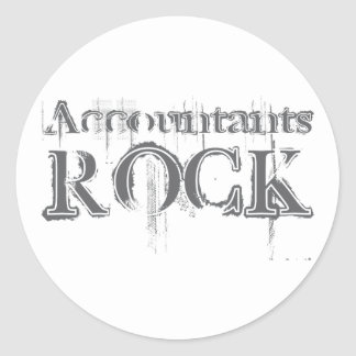 Accountants Rock Classic Round Sticker