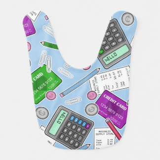 Accounting / Accountant Themed Pattern Bib