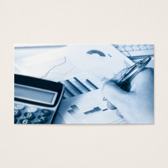 accounting and finance business card