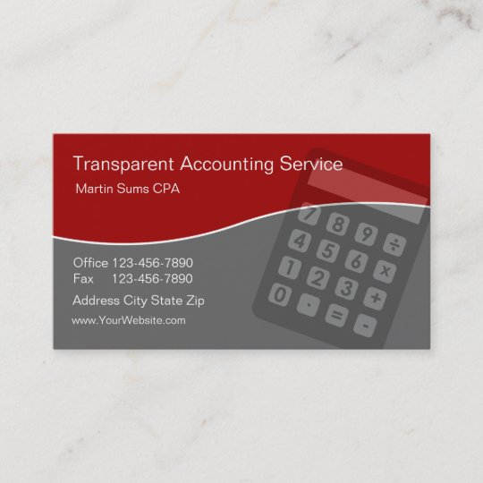 Accounting business cards unique zazzle accounting business cards unique reheart Images