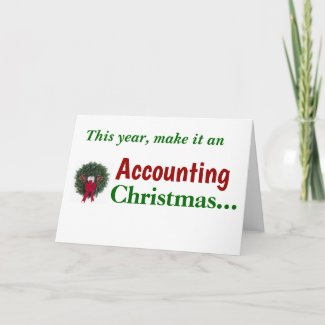 Accounting Christmas Accountant Card Joke Pun