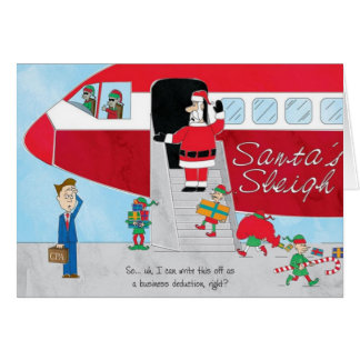Accounting Christmas Card Santa s Sleigh Upgrade