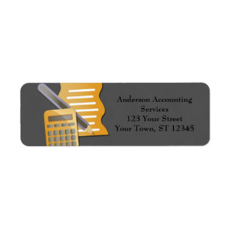Accounting Concept Return Address Label