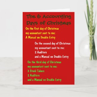 Accounting Days of Christmas Funny Accountant Song