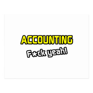 Accounting ... F-ck Yeah! Postcard