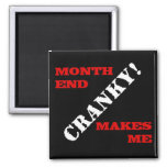 Accounting & Finance Month End Approval Stamp Square Magnet