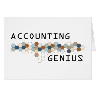 Accounting Genius Greeting Card