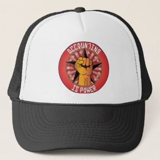 Accounting Is Power Trucker Hat