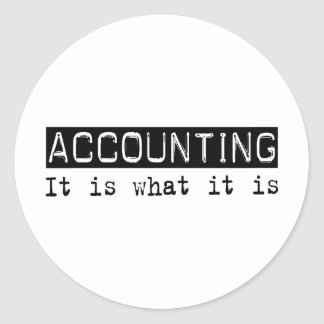 Accounting It Is Classic Round Sticker