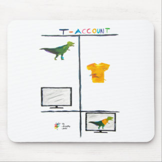 Accounting Mouse Pad - T-Rex T-Account