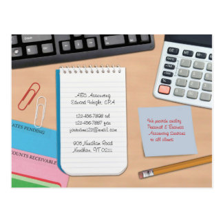 Accounting Postcard