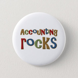 Accounting Rocks 6 Cm Round Badge