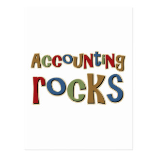 Accounting Rocks Postcard