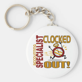 Accounting Specialist Clocked Out Keychain