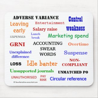 ACCOUNTING SWEAR WORDS annoying mousepad
