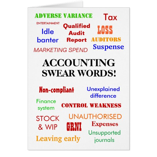 Accounting swear words birthday card zazzle accounting swear words birthday card bookmarktalkfo Image collections