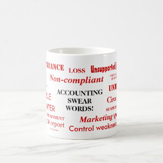 Accounting Swear Words! Funny Financial Joke Coffee Mug