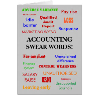 Accounting Swear Words! (multicolour) Classic Card