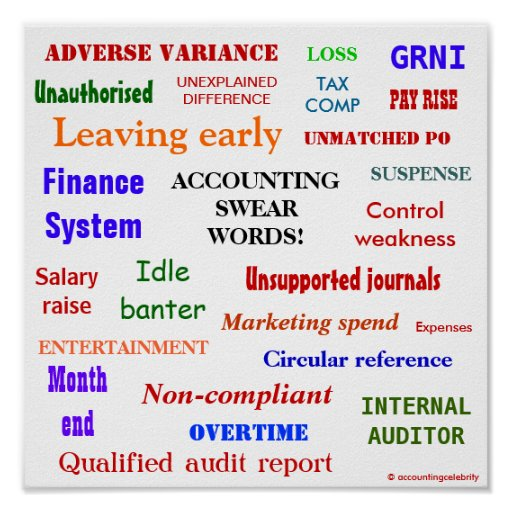 ACCOUNTING SWEAR WORDS! Multicolour Posters