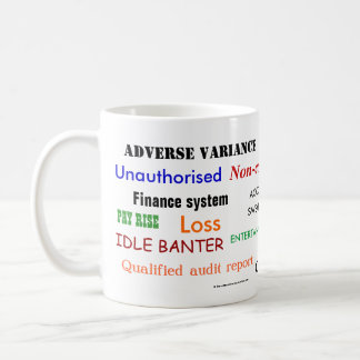Accounting Swear Words!! (multicoloured) Basic White Mug