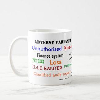 Accounting Swear Words!! (multicoloured) Basic White Mug