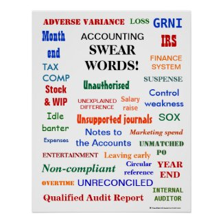 ACCOUNTING SWEAR WORDS ! Office Humor