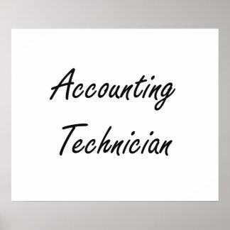 Accounting Technician Artistic Job Design Poster