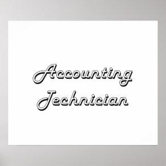 Accounting Technician Classic Job Design Poster