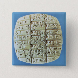Accounts Table with cuneiform script, c.2400 BC (t 15 Cm Square Badge