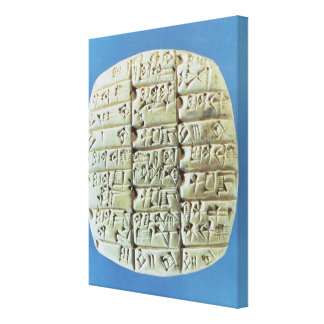 Accounts Table with cuneiform script, c.2400 BC (t Canvas Print
