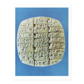 Accounts Table with cuneiform script, c.2400 BC (t Postcard