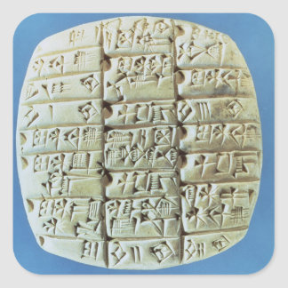 Accounts Table with cuneiform script, c.2400 BC (t Square Sticker