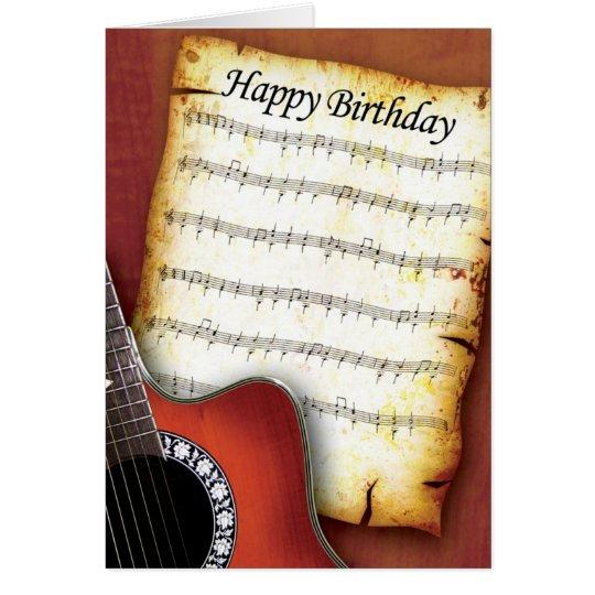Accoustic Guitar Birthday Card