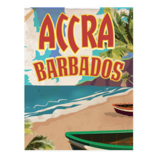Accra Barbados travel poster Postcard