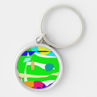 Accumulated Time Swimming Pool Green Yard Key Chains